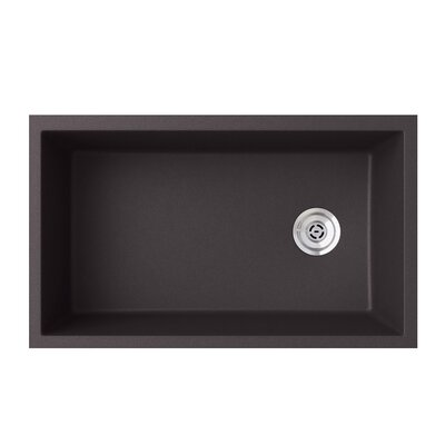 19.25 x 31.88 Undermount Kitchen Sink Finish: Nero
