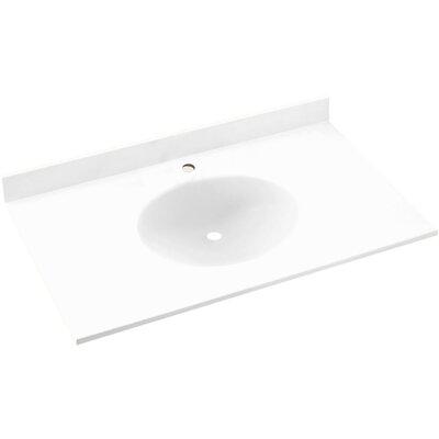 Ellipse 55 Single Bathroom Vanity Top Top Finish: White