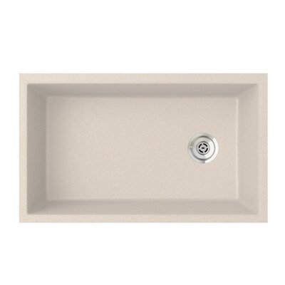19.25 x 31.88 Undermount Kitchen Sink Finish: Granito