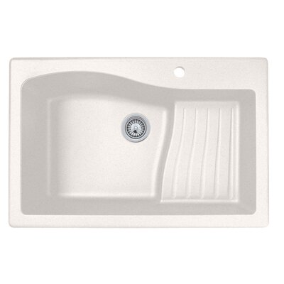 33 x 22 Drop-In Kitchen Sink Finish: Bianca