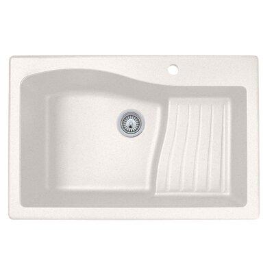 33 x 22 Undermount/Drop-In Kitchen Sink Finish: Bianca