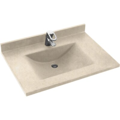 Contour 31 Single Bathroom Vanity Top Top Finish: Tahiti Sand