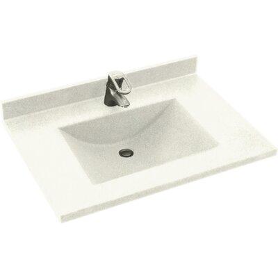 Swanstones Metropolitan  25 Single Bathroom Vanity Top Top Finish: Cloud White