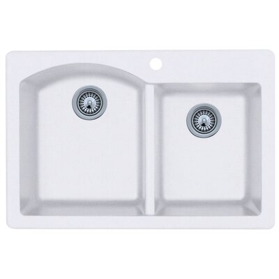 Swanstone Classics 33 x 22 Double Bowl Kitchen Sink Finish: Bianca