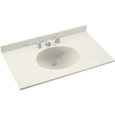 Ellipse 37 Single Bathroom Vanity Top Top Finish: Bisque