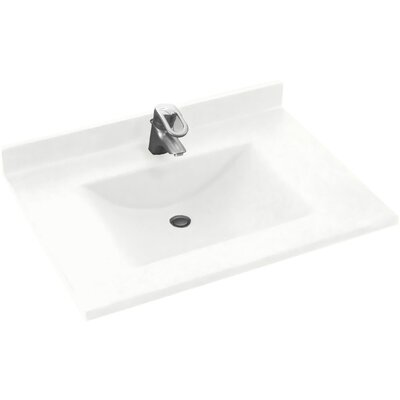 Contour 31 Single Bathroom Vanity Top Top Finish: White