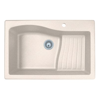 33 x 22 Drop-In Kitchen Sink Finish: Granito