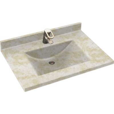 Swanstones Metropolitan 37 Single Bathroom Vanity Top Top Finish: Cloud White