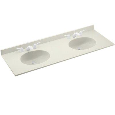 Ellipse 61 Double Bathroom Vanity Top Top Finish: Bisque