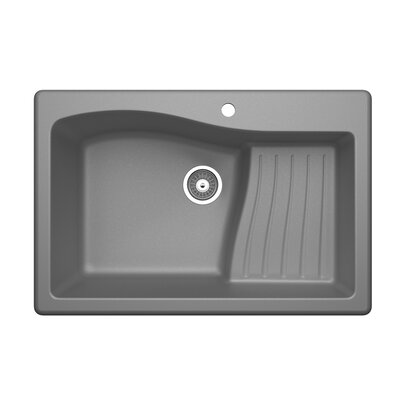 33 x 22 Undermount/Drop-In Kitchen Sink Finish: Metallico