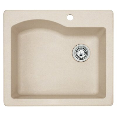 25 x 22 Undermount/Drop-In Kitchen Sink Finish: Granito