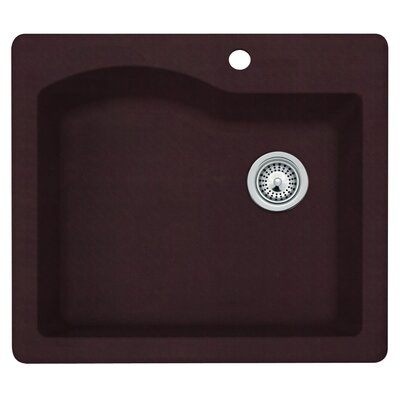 25 x 22 Undermount/Drop-In Kitchen Sink Finish: Espresso