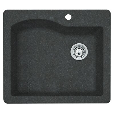 25 x 22 Undermount/Drop-In Kitchen Sink Finish: Nero