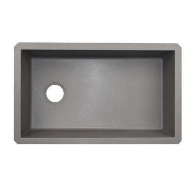 19.25 x 31.88 Undermount Kitchen Sink Finish: Metallico