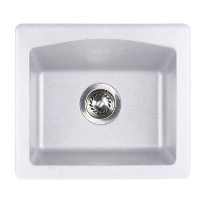 18 x 16 Undermount/Drop-In Bar Sink Finish: Bianca