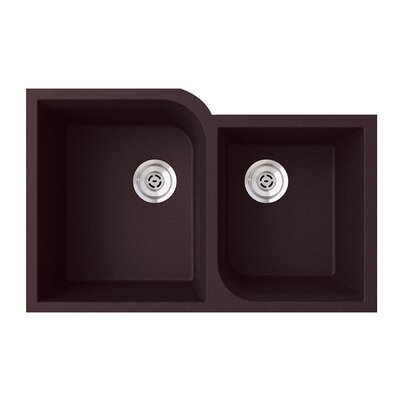 32 x 21 Double Basin Undermount Kitchen Sink Finish: Espresso