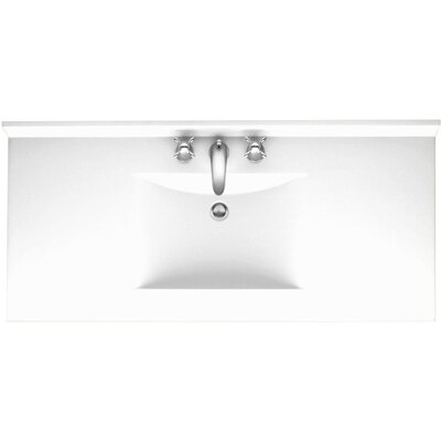 Everyday Essentials Ellipse 61 Single Bathroom Vanity Top Top Finish: White