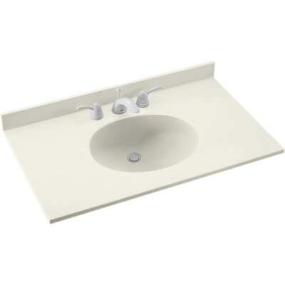 Swanstones Everyday Essentials Ellipse 25 Single Bathroom Vanity Top Top Finish: Bisque