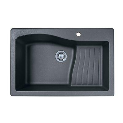 33 x 22 Drop-In Kitchen Sink Finish: Nero