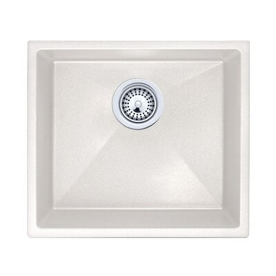 18 x 16 Undermount  Kitchen Sink Finish: Bianca