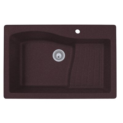 33 x 22 Undermount/Drop-In Kitchen Sink Finish: Espresso