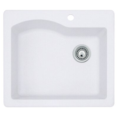 25 x 22 Undermount/Drop-In Kitchen Sink Finish: Bianca