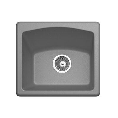 18 x 16 Drop-In Bar Sink Finish: Metallico