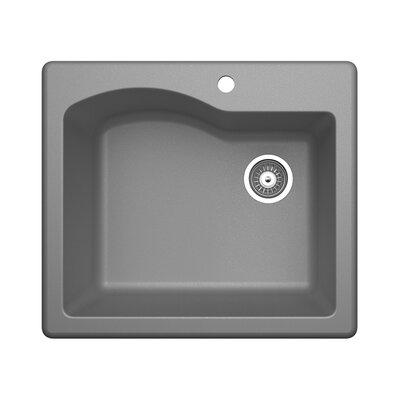25 x 22 Undermount Kitchen Sink Finish: Metallico