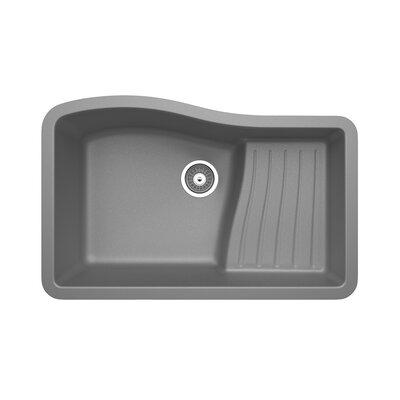 32 x 21 Undermount Kitchen Sink Finish: Gray