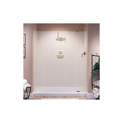 SWANSTONE Everyday Essentials High Gloss Three Panel Shower Wall System - Finish: Bisque