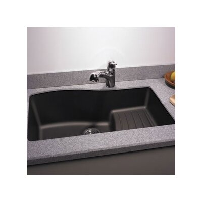 32 x 21 Undermount Kitchen Sink Finish: Nero
