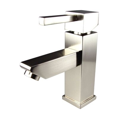 Versa Single Hole Mount Bathroom Faucet with Single Handle Finish: Brushed Nickel