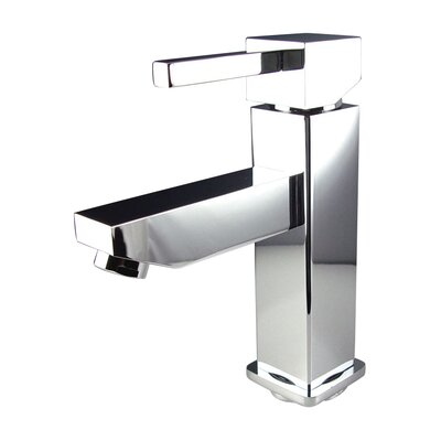 Versa Single Hole Mount Bathroom Faucet with Single Handle Finish: Chrome