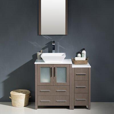 Torino 36 Single Modern Bathroom Vanity Set with Mirror