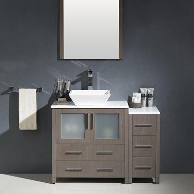 Torino 42 Single Modern Bathroom Vanity Set with Mirror