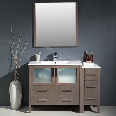 Torino 48 Single Modern Bathroom Vanity Set with Mirror