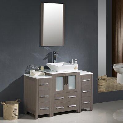 Torino 48 Single Modern Bathroom Vanity Set with Mirror
