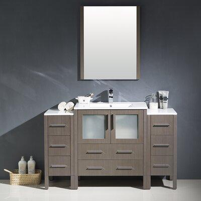 Torino 54 Single Modern Bathroom Vanity Set with Mirror