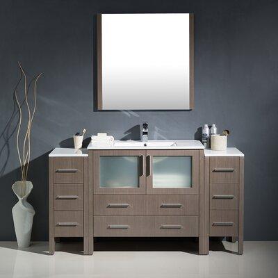 Torino 60 Single Modern Bathroom Vanity Set with Mirror