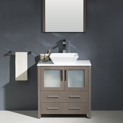 Torino 30 Single Modern Bathroom Vanity Set with Mirror