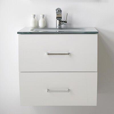 24 Single Bathroom Vanity Set Color: White
