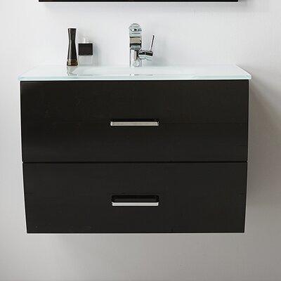 32 Single Bathroom Vanity Set Base Finish: Black