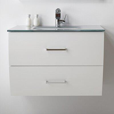 32 Single Bathroom Vanity Set Base Finish: White