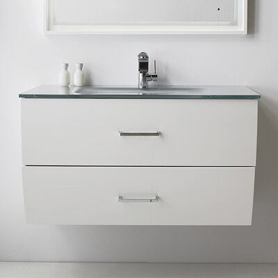 40 Single Bathroom Vanity Set Base Finish: White
