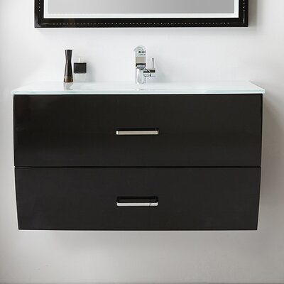 40 Single Bathroom Vanity Set Base Finish: Black