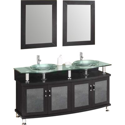 Classico Contento 60 Modern Double Sink Bathroom Vanity Set with Mirrors