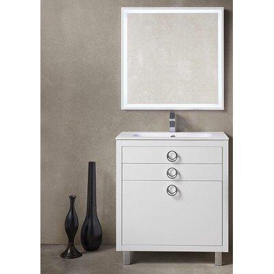 Platinum 32 Due Single Bathroom Vanity Set Base Finish: Glossy White