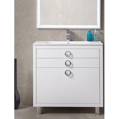 Platinum 36 Due Single Bathroom Vanity Set Base Finish: White