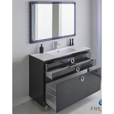 Platinum 48 Due Single Bathroom Vanity Set Base Finish: Glossy Cobalt