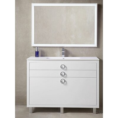 Platinum 48 Due Single Bathroom Vanity Set Base Finish: Glossy White